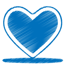 Blue Sketch Heart Icon, PNG ClipArt Image | IconBug.com