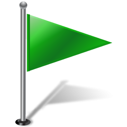 Flag green. Icon png clipart image