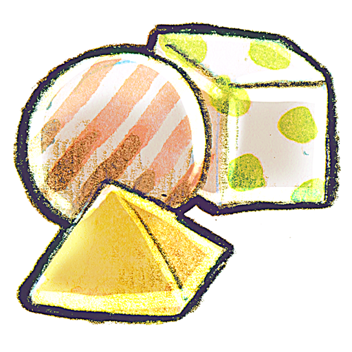 Crayon Shapes Icon PNG ClipArt Image