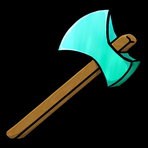 minecraft diamond axe icon, png clipart image   iconbug