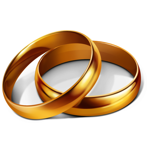 Gold Rings Icon PNG ClipArt Image